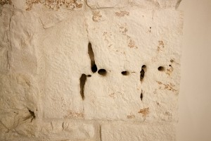 Un particolare nella pietra del trullo